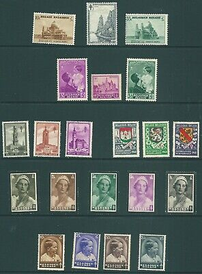 BELGIUM mid 20th Century mint stamp collection: Charity issues