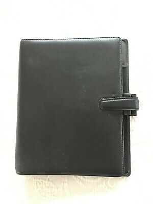 FILOFAX Guildford A5 Organiser Deluxe Leather Schwarz