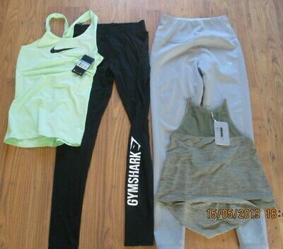 womens gym bundle,small,SIZE 10??nike vest,gymshark leggings vest,some BNWT