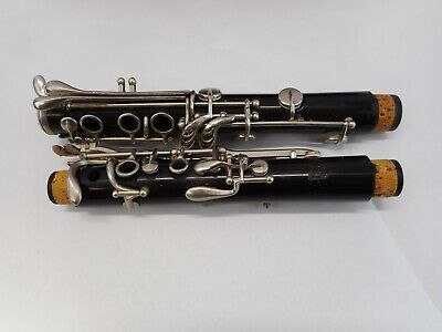 Vintage C G Conn Director Bb Clarinet Upper And Lower Joints