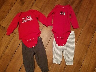 Boys Christmas Holiday Outfits By Carter's EUC Size 6 months.