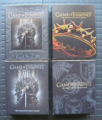 Game of Thrones: The Complete 1st & 2nd Season (Blu-Ray, 2016, 10 disc set)