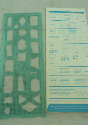 Vintage IBM S//360 Flowchart Template *NEW* never been used