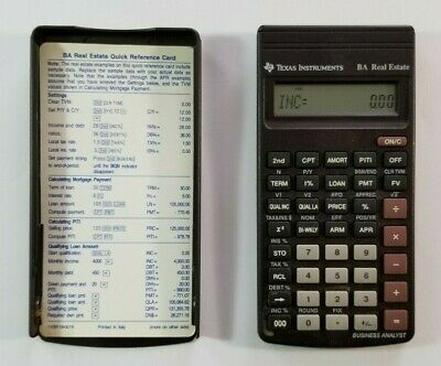 Texas Instruments BA Real Estate Financial Calculator Business Analyst