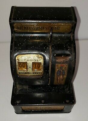 1940's Uncle Sam's Metal 3 Coin Register Bank by Durable Toy & Novelty Co,
