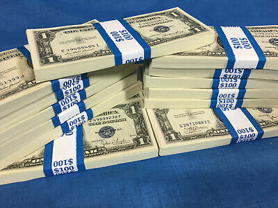 Uncirculated Silver Certificate Currency Old Us Money Bill $1 Vintage Collection