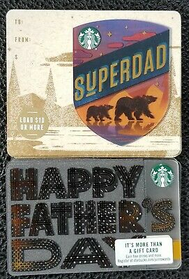 20 NEW STARBUCKS 2019 US FATHERS DAY GIFT CARDS DIE CUT LIMITED 6166 (ten each)