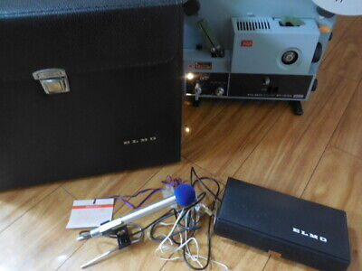 ELMO ST-1200 Sound Projector Tested New Belts & Lamp Etc.Case
