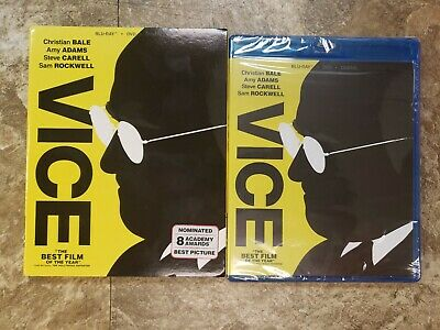 VICE🇺🇸 (Blu-ray+DVD+Digital HD, 2019) w/Slipcover, Christian Bale, Brand New❗️