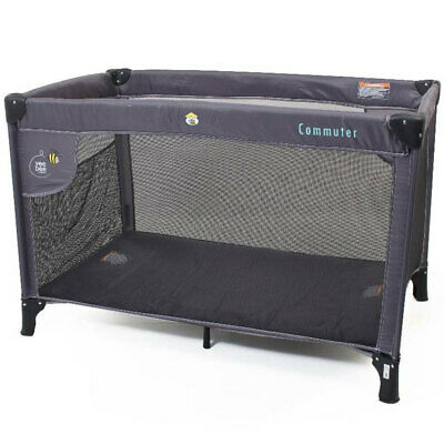 Vee Bee Commuter Cot Toddler/Baby Portable/Foldable Travel Crib w/ Bag Charcoal