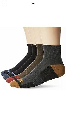 Timberland Men's 4 Pack Comfort Low Quarter Sock Assorted Brown... Free Shipping