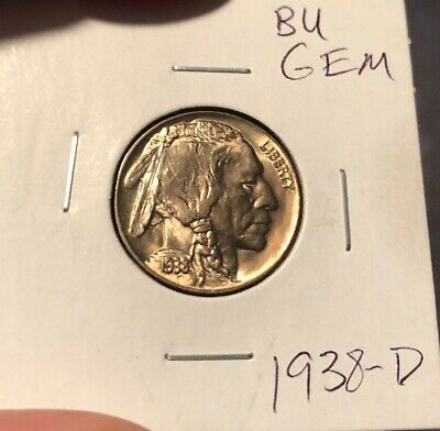 1938-D Buffalo Nickel. Full Horn Gem Condition!