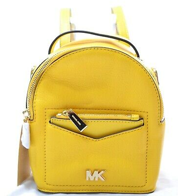 46134243e394 Michael Kors Leather Jessa Small Convertible Sun Yellow Backpack Bag $228  #510