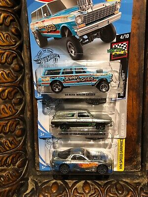 Hot Wheels 2019 K Case US Card 64 Nova Wagon Gasser Jerry Rigged And Zamacs