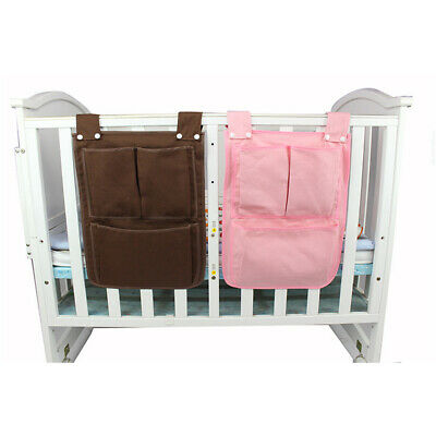 Baby Cot Bed Hanging Storage Bag Crib Organizer Toy Diaper Pocket For Crib