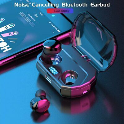 IPX7 Waterproof Bluetooth 5.0 Earbuds Wireless Headsets Headphone Touch Control