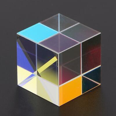 Six-Sided Bright Light Cube Optical Stained Glass Beam Splitting Prism