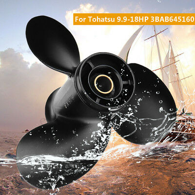9.25 x 8 Aluminum Outboard Propeller For Tohatsu Mercury 9.9-20HP 3BAB645160 CA