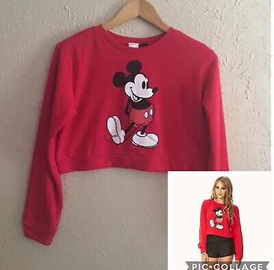 81c7d91980f Forever 21 Disney Mickey Mouse Crop Cropped Top Sweater Size M Medium