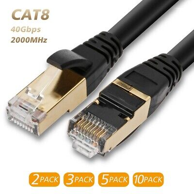 2019 PREMIUM Ethernet Cable CAT 8 7 Ultra High Speed LAN Patch Cord 6-100ft Lot