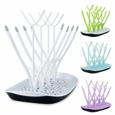 Baby Feeding Bottle Drying Rack Dryer Milk Nipple Toddler Sterilise Teats Cups