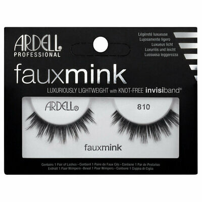 ARDELL Faux Mink Lashes 810 Invisiband silky soft strip false BNIB AUTHENTIC