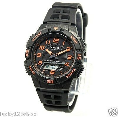 AQ-S800W-1B2 Black Casio Watch Tough solar 5 alarms World time Stopwatch Rsein