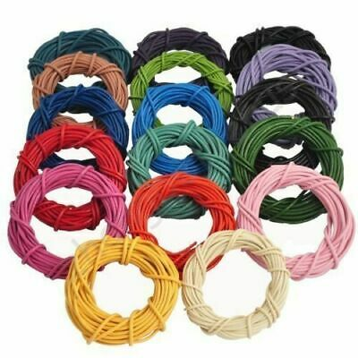 Real Cord Making Round 10m Bracelet Jewelry Leather 1.5/2/2.5/3/4/5/6/7/8mm