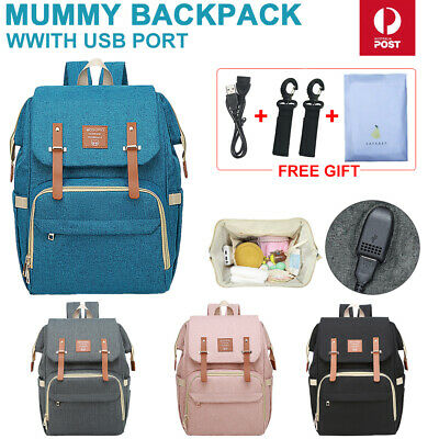 2019 New Luxury Large Mummy Maternity Nappy Diaper Bag Baby Bag Travel Backpack