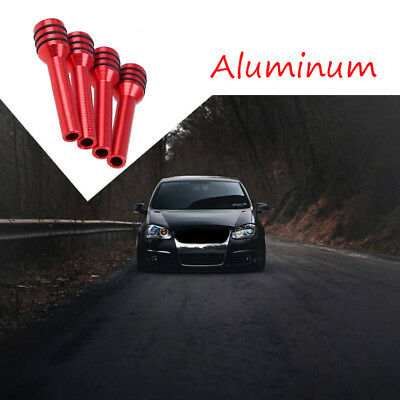 4pcs Aluminum Alloy Car Truck Interior Door Lock Knob Pull Pin Red Universal
