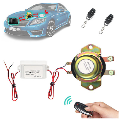 Car Remote Control Battery Switch Disconnect Anti-theft Master Kill Universal