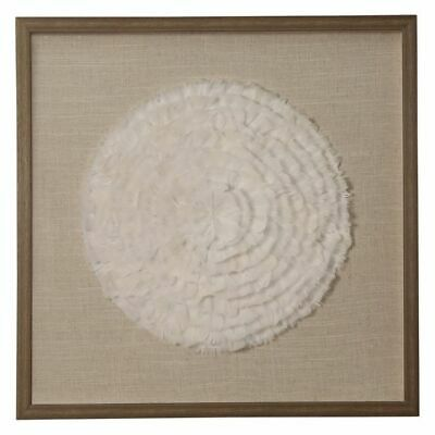 NEW OneWorld Collection Feather Circle Framed Wall Art