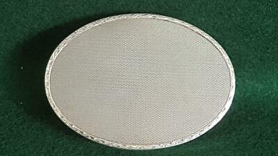 Excellent German 1930s Art Deco Solid Silver Oval Powder Compact