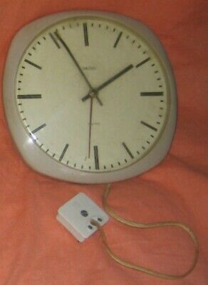 Smiths 'sectric' electric wall clock, 20cm diameter, fawn, untested