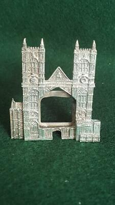 Lovely H/M Sterling Silver Small Westminster Abbey Shaped Photo Frame Souvenir