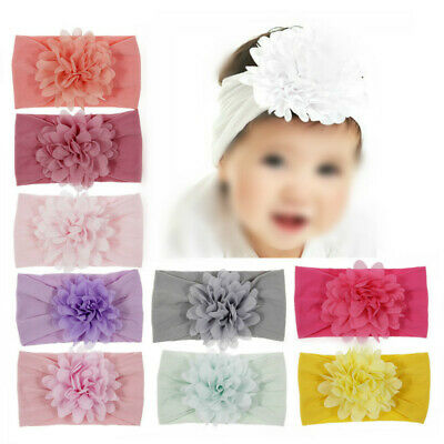 Kid Girl Baby Headband Infant Newborn Flower Bow Hair Band Accessories Lovely