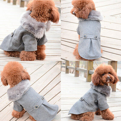 Small Pet Dog Puppy Clothes Sweater Warm Fur Coat Jacket Chihuahua Costumes