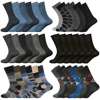 6 & 12 Pairs Mens Non Elastic Diabetic Socks Loose Soft Grip Top Adults UK 6-11