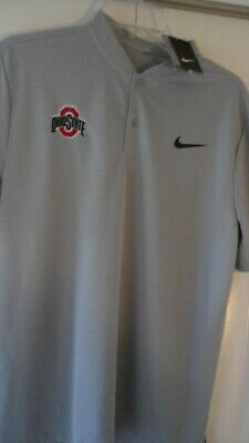 ee55a7d2 NIKE DRI FIT OSU OREGON STATE BEAVERS s/s white golf Polo Shirt mens ...