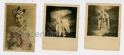 1940s Vintage Photograph China Chinese Opera Photos Lot of 3 Mei Lanfang Photo