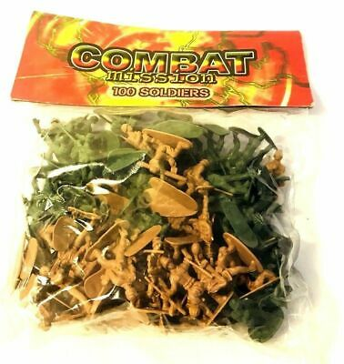 100pcs Plastic Soldiers Toys Traditional Army Kids Children Pretend War Games