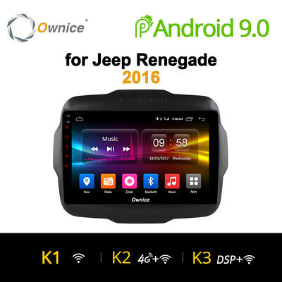 Android 9 4/8Core Autoradio Navigatore Sat Gps For Ford Jeep Renegade 2016