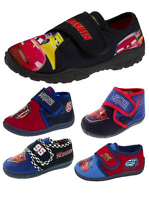 Kids Boys Disney Cars 3D Slippers Fun Novelty Booties Shoes Childrens Size