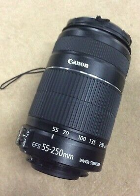 Canon EF-S 55-250mm F/4-5.6 IS II Zoom Lens EFS Macro 1.1m Functions DAMAGED
