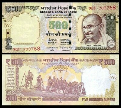 India 500 RUPEES 2016 P 106g UNC OFFER !