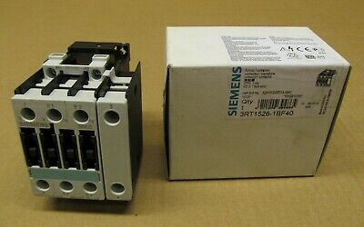 Nib Siemens 3Rt1526-1Bf40 Contactor 40 Amp 110 Vdc 2 N.o. 2 N.c. (200 Available)