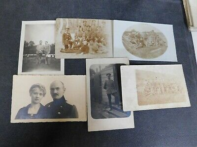 6x lot of WW1 GERMAN Real Photo RPPC Postcards SOLDIERS IN UNIFORM  #6