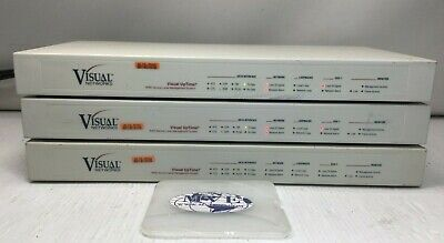 Visual Networks 807-0018 1536-64-8Cde-Di-Mpvc Uptime Wan Mgmt System Lot Of 3