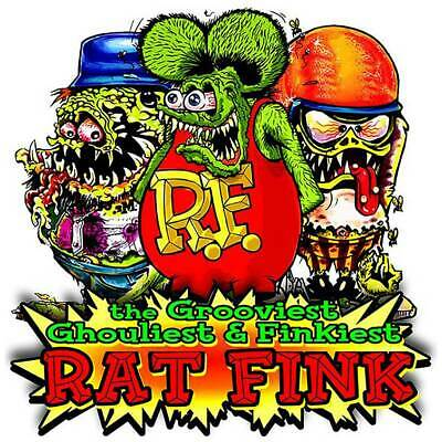 Rat Fink The Grooviest, Ghouliest, Finkiest Rat, Big Daddy Ed Roth Metal Sign