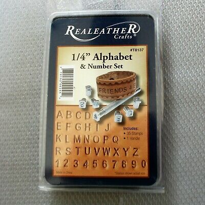 "Realeather 1/4"" Alphabet & Number Set"